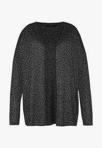 Vero Moda Curve - VMBRIANNA OPEN CARDIGAN BOO - Vest - dark grey melange - 4