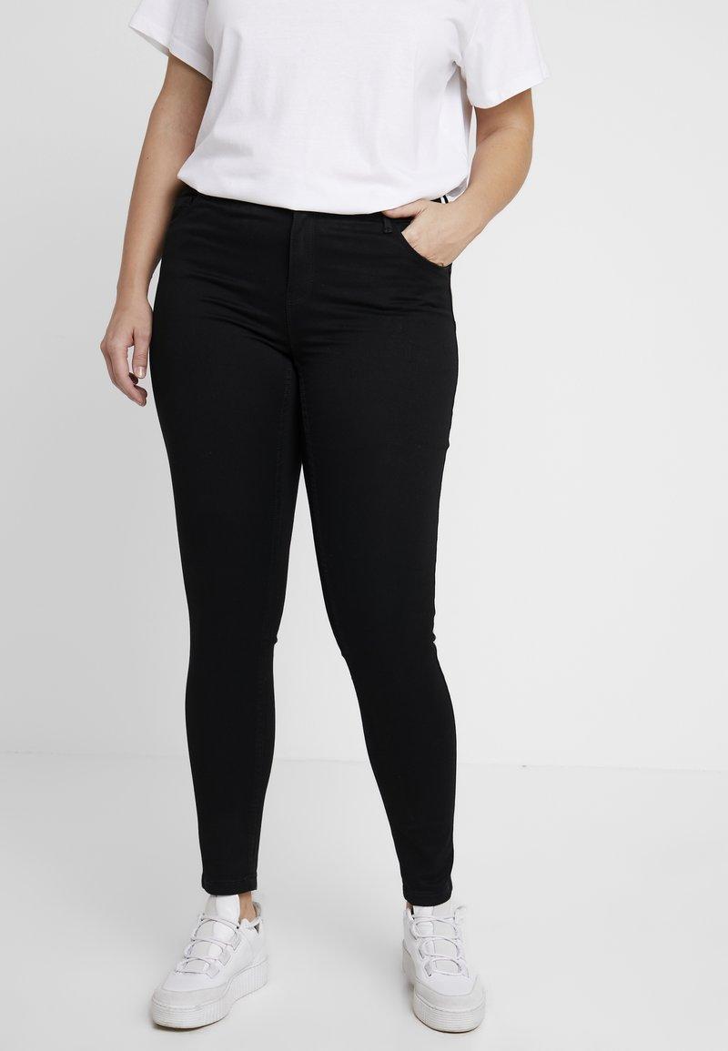 Vero Moda Curve - SEVEN SHAPE UP - Jeans Slim Fit - black