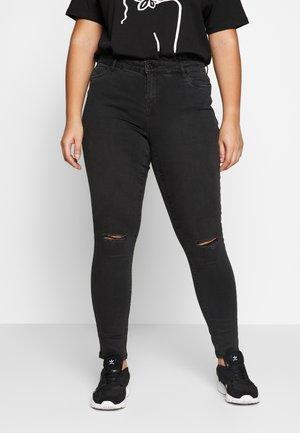 VMSEVEN DESTROY - Slim fit jeans - black