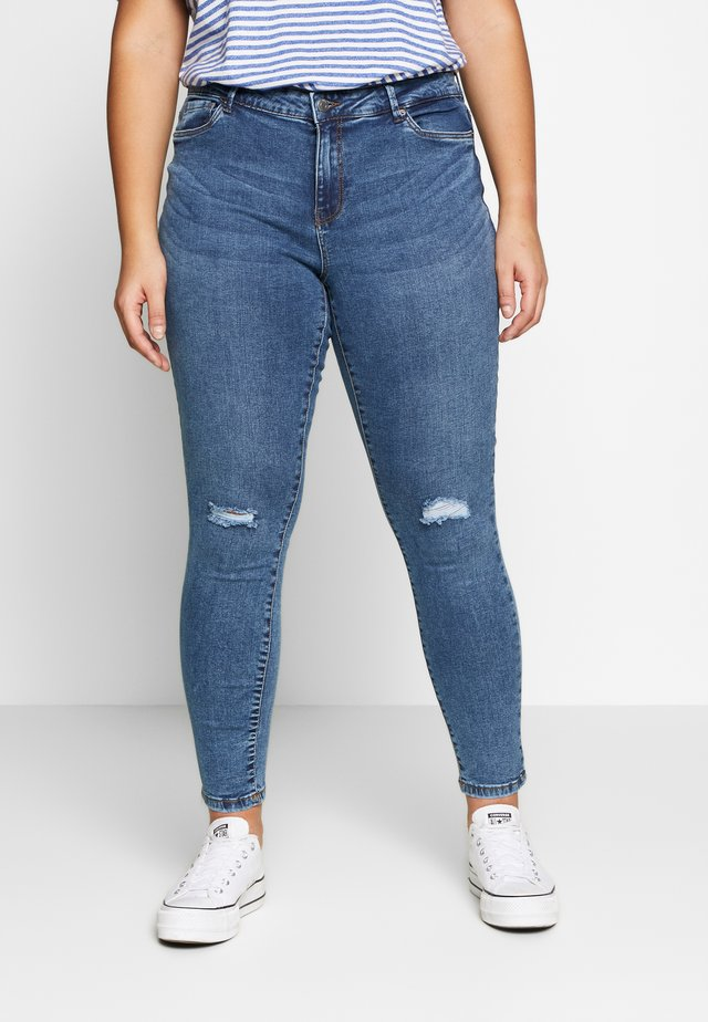 VMSEVEN SLIM  - Slim fit jeans - medium blue denim