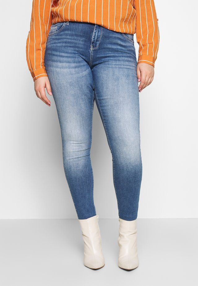 VMLUX - Jeans Skinny Fit - medium blue denim