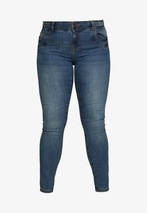 VMSEVEN GIRL - Skinny-Farkut - medium blue denim