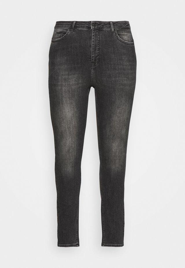 VMLORA WASH - Jeans Skinny Fit - black denim