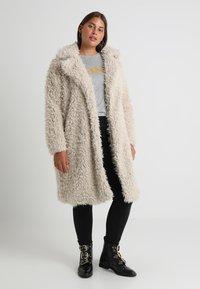 Vero Moda Curve - Classic coat - oatmeal - 0
