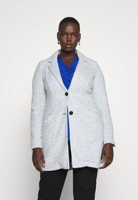 Vero Moda Curve - VMMARBLEBELLA JACKET - Krátký kabát - slate - 0