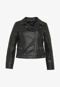 Vero Moda Curve - VMULTRAMALOU SHORT COATED JACKET - Faux leather jacket - black - 4