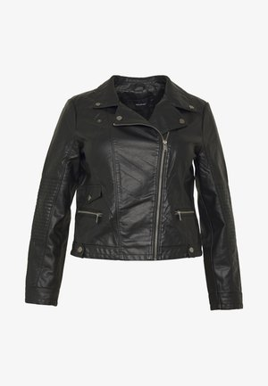 VMULTRAMALOU SHORT COATED JACKET - Faux leather jacket - black