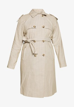 VMPOPPYKENZIE LONG TRENCH COAT CURVY - Trench - travertine