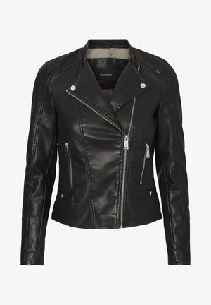 JACKE BESCHICHTETE - Faux leather jacket - black