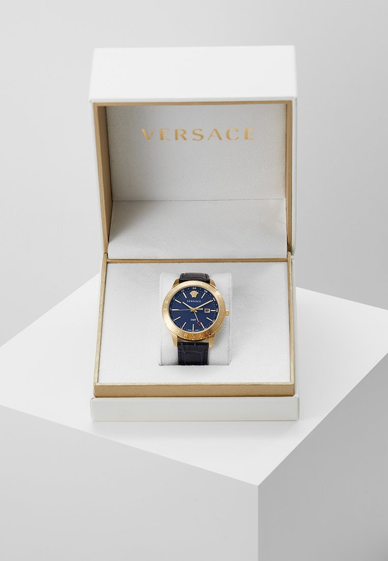 Versace Watches - UNIVERS - Zegarek - darkblue/gold-coloured