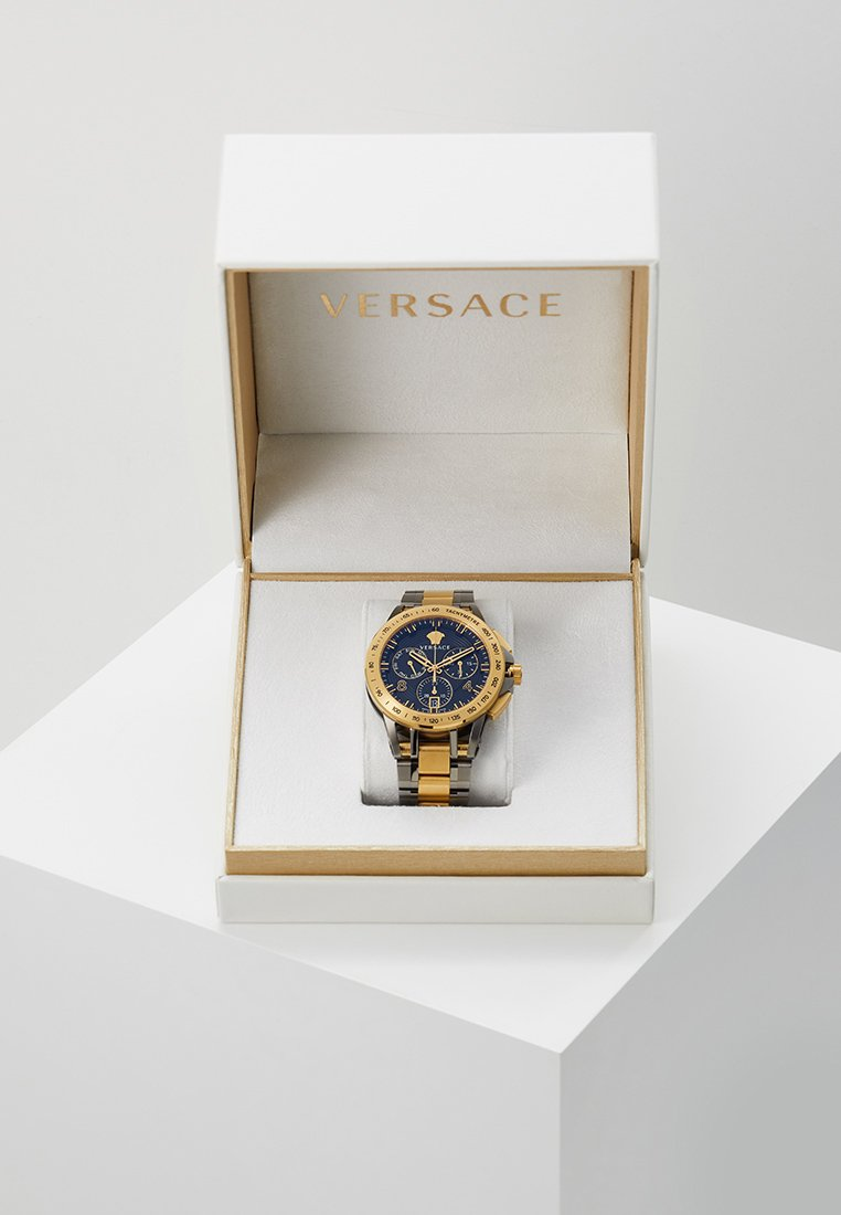 Versace Watches - SPORT TECH - Chronograph watch - gold-coloured/gun