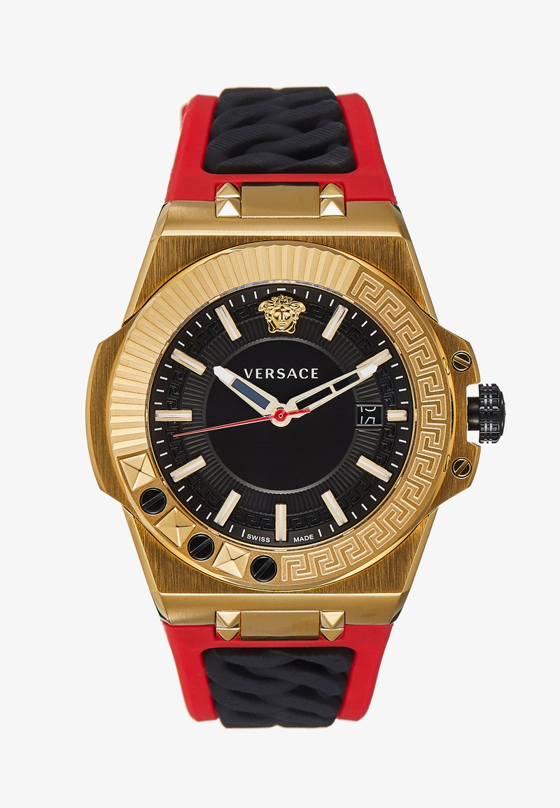 Versace Watches - CHAIN REACTION - Montre - red/gold-coloured