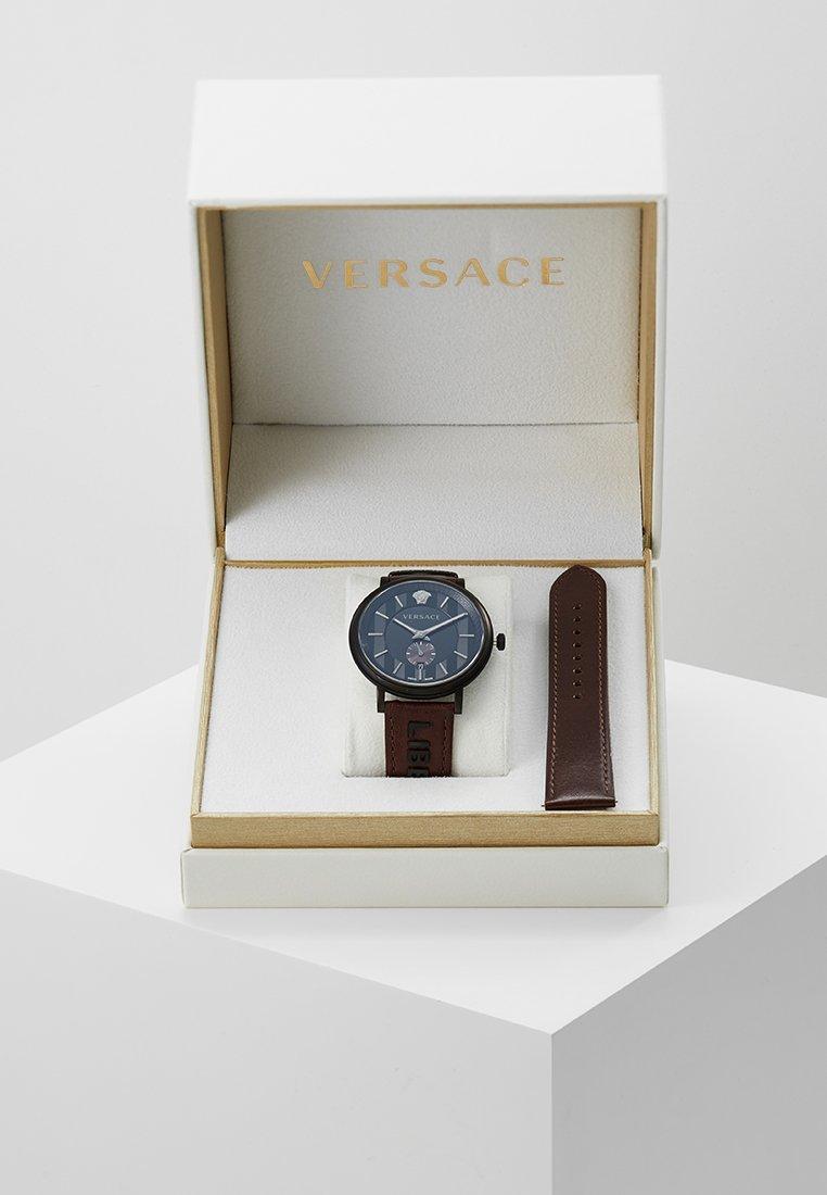 Versace Watches - V-CIRCLE THE MANIFESTO EDITION - Reloj - black/brown