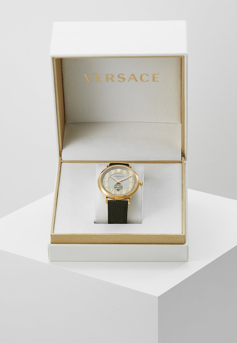Versace Watches - V-CIRCLE THE MANIFESTO EDITION - Orologio - green/gold-coloured