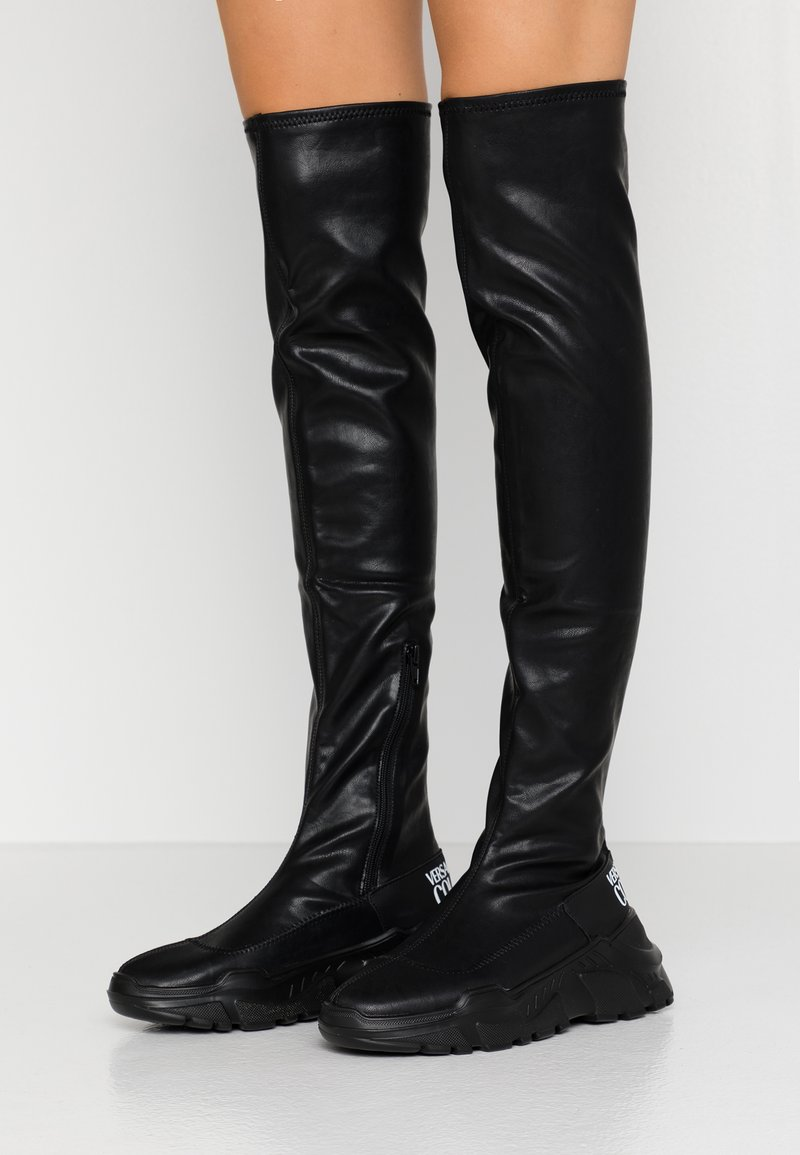Versace Jeans Couture - LINEA FONDO SPEED - Over-the-knee boots - black