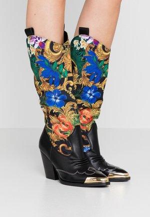 Cowboy/Biker boots - multicolor