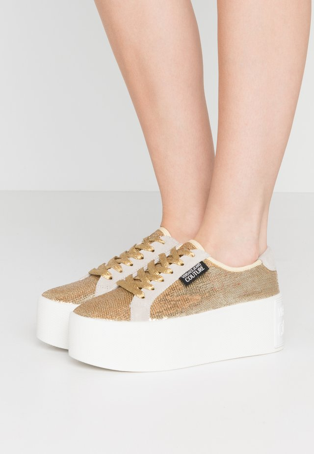 LINEA FONDO HIGH BOX - Sneakers - gold