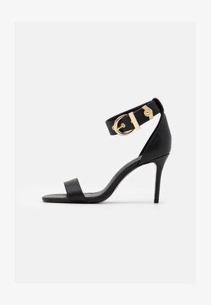 High heeled sandals - nero