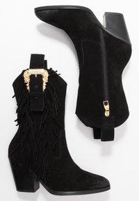 Versace Jeans Couture - LINEA FONDO CAMPEROS - Cowboy-/Bikerstiefelette - black - 3