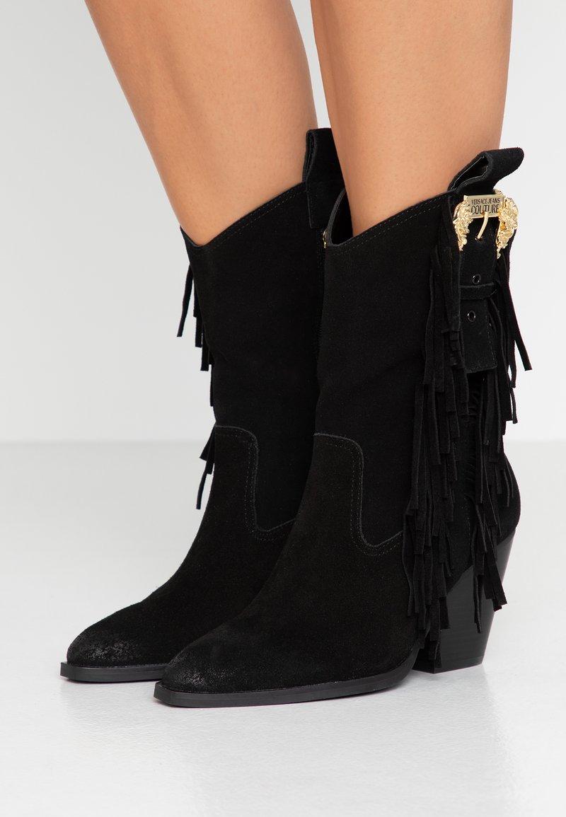 Versace Jeans Couture - LINEA FONDO CAMPEROS - Cowboy-/Bikerstiefelette - black