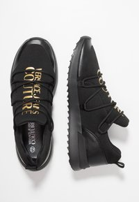 Versace Jeans Couture - LINEA SUPER - Sneakers laag - black/gold - 1