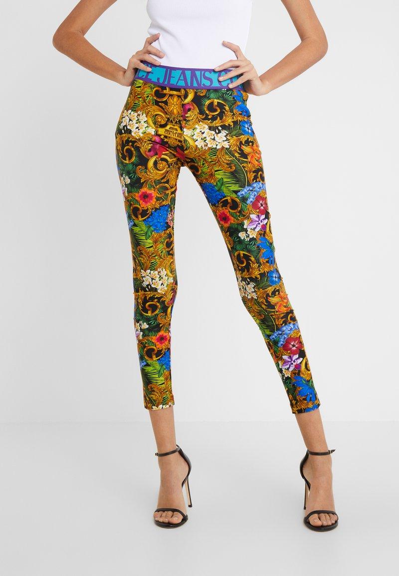 Versace Jeans Couture - LADY FUSEAUX - Leggings - mult scuri