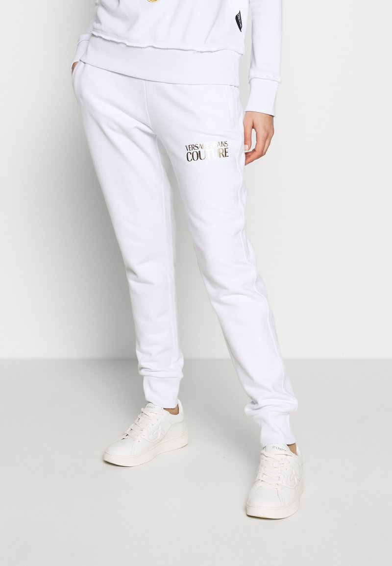 Versace Jeans Couture - LADY TROUSER - Teplákové kalhoty - bianco ottico