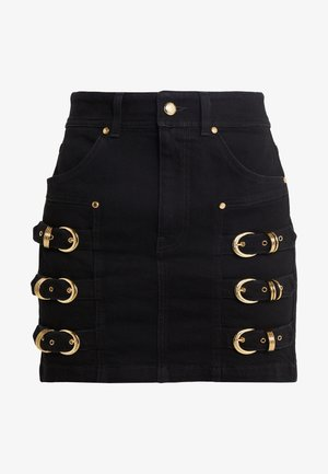 LADY SKIRT - Gonna di jeans - nero