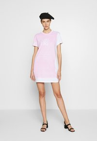 Versace Jeans Couture - LADY DRESS - Day dress - white/rose - 1