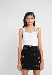 Versace Jeans Couture - LADY TOP - Linne - bianco ottico - 0