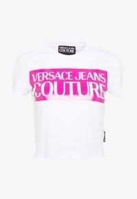 Versace Jeans Couture - LADY  - T-shirt imprimé - white/pink - 3