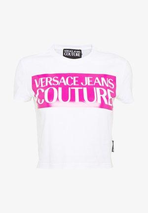 LADY  - T-shirt print - white/pink