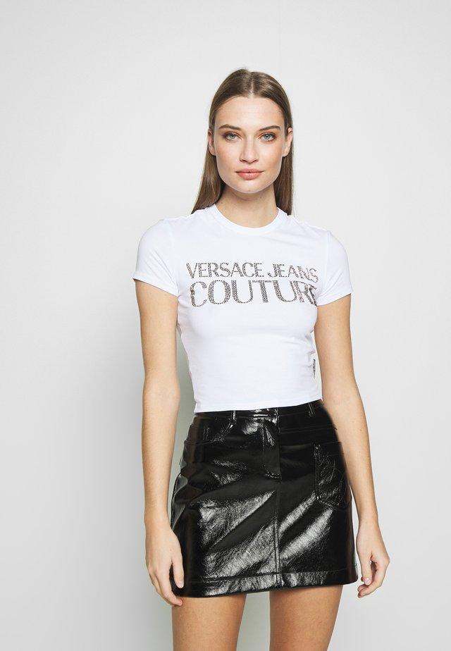 LADY - Print T-shirt - white/gold