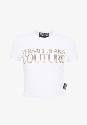 LADY - T-shirt con stampa - white/gold