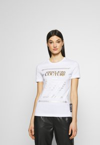 Versace Jeans Couture - T-shirts print - white/gold - 0