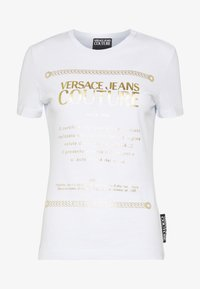 Versace Jeans Couture - T-shirts print - white/gold - 4