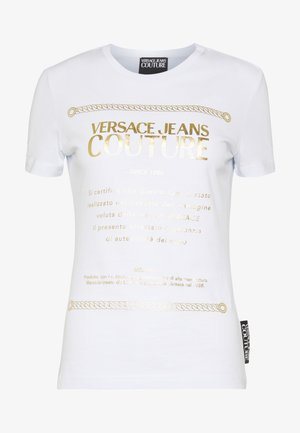 Camiseta estampada - white/gold