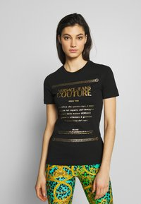 Versace Jeans Couture - Print T-shirt - black/gold - 0