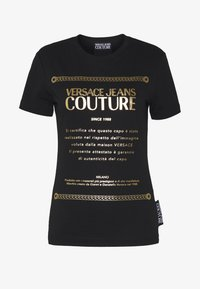 Versace Jeans Couture - Print T-shirt - black/gold - 4