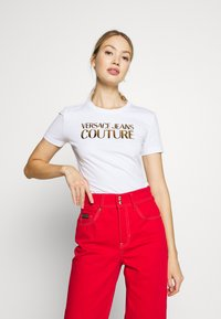 Versace Jeans Couture - LADY - Print T-shirt - white gold - 0