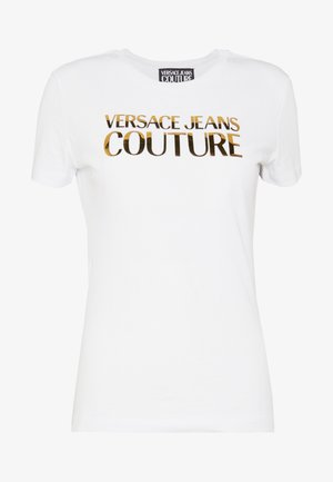 LADY - Print T-shirt - white gold