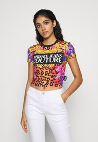 Versace Jeans Couture - LADY - T-shirt con stampa - rosa fluo - 0