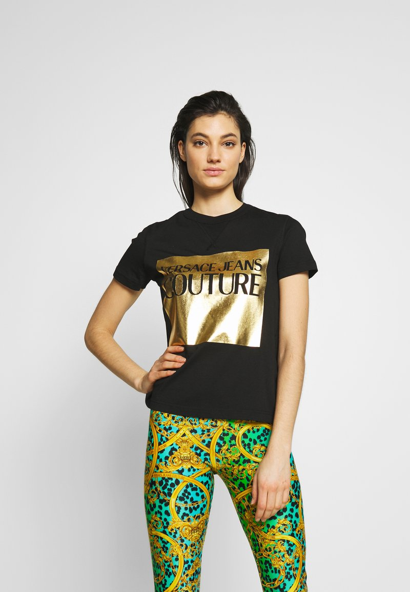 Versace Jeans Couture - LADY - Printtipaita - nero