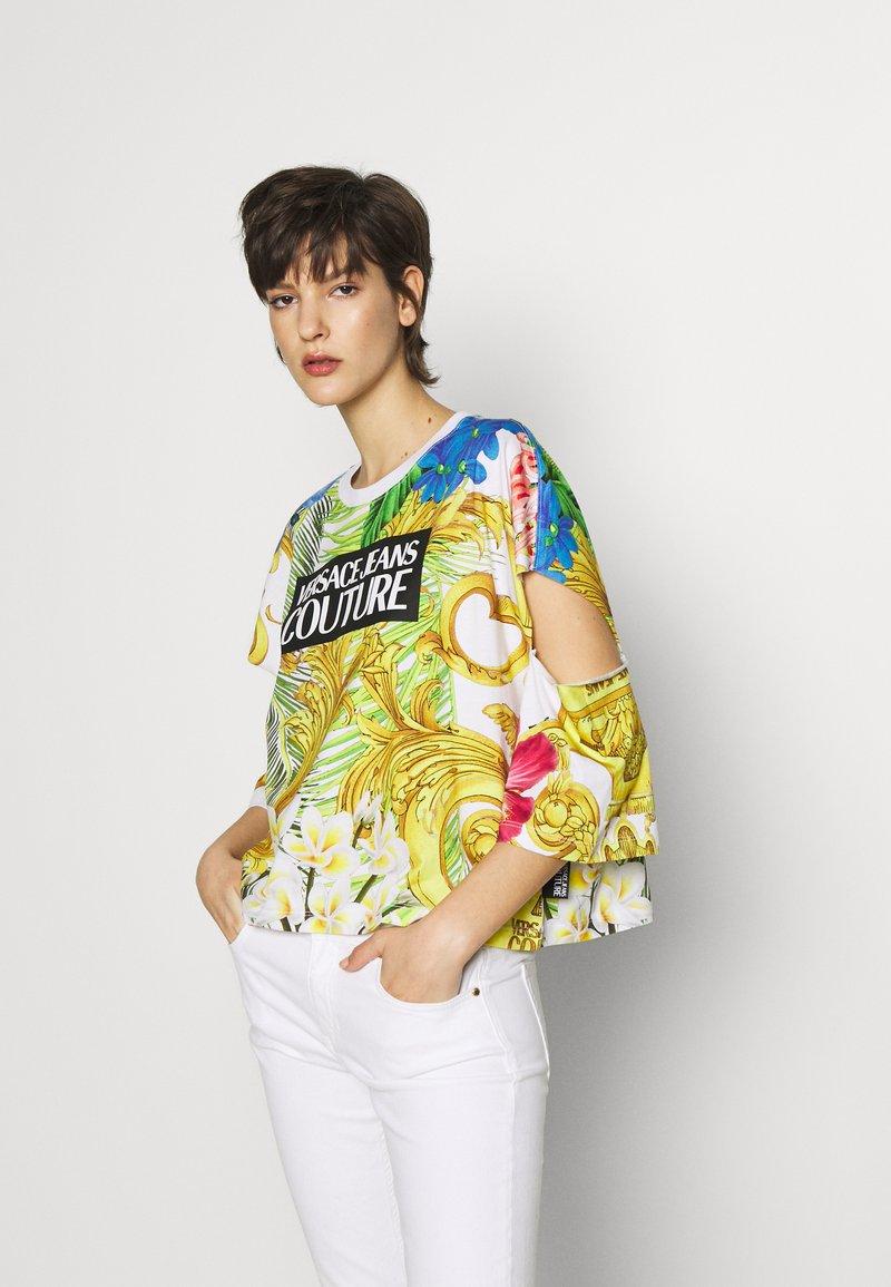 Versace Jeans Couture - LADY - T-shirt print - bianco ottico