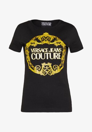LADY - T-shirt z nadrukiem - black/gold