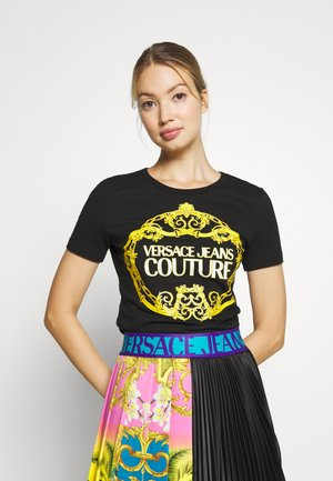LADY - T-shirt con stampa - black/gold