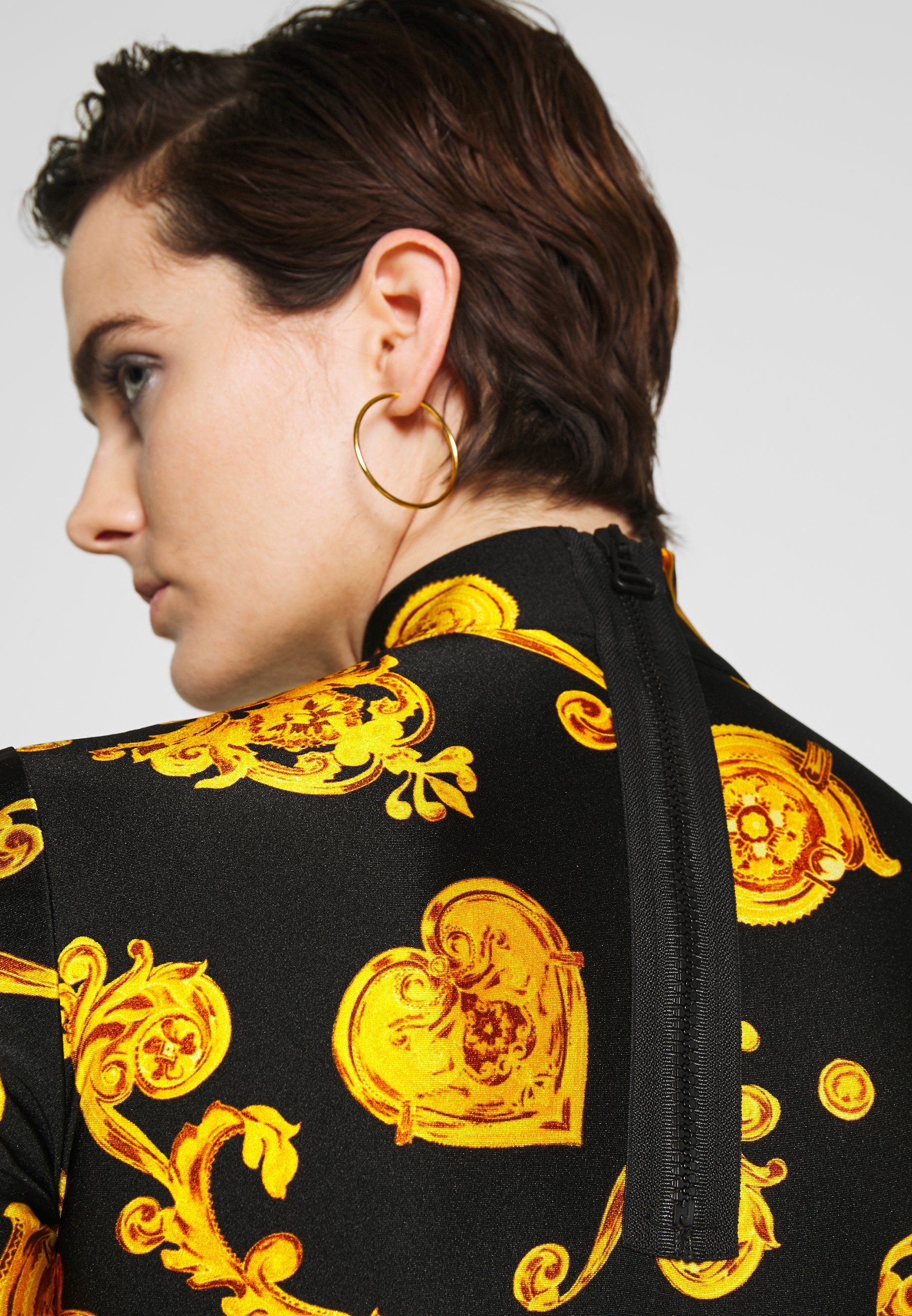 Versace Jeans Couture Bluzka z długim rękawem - black