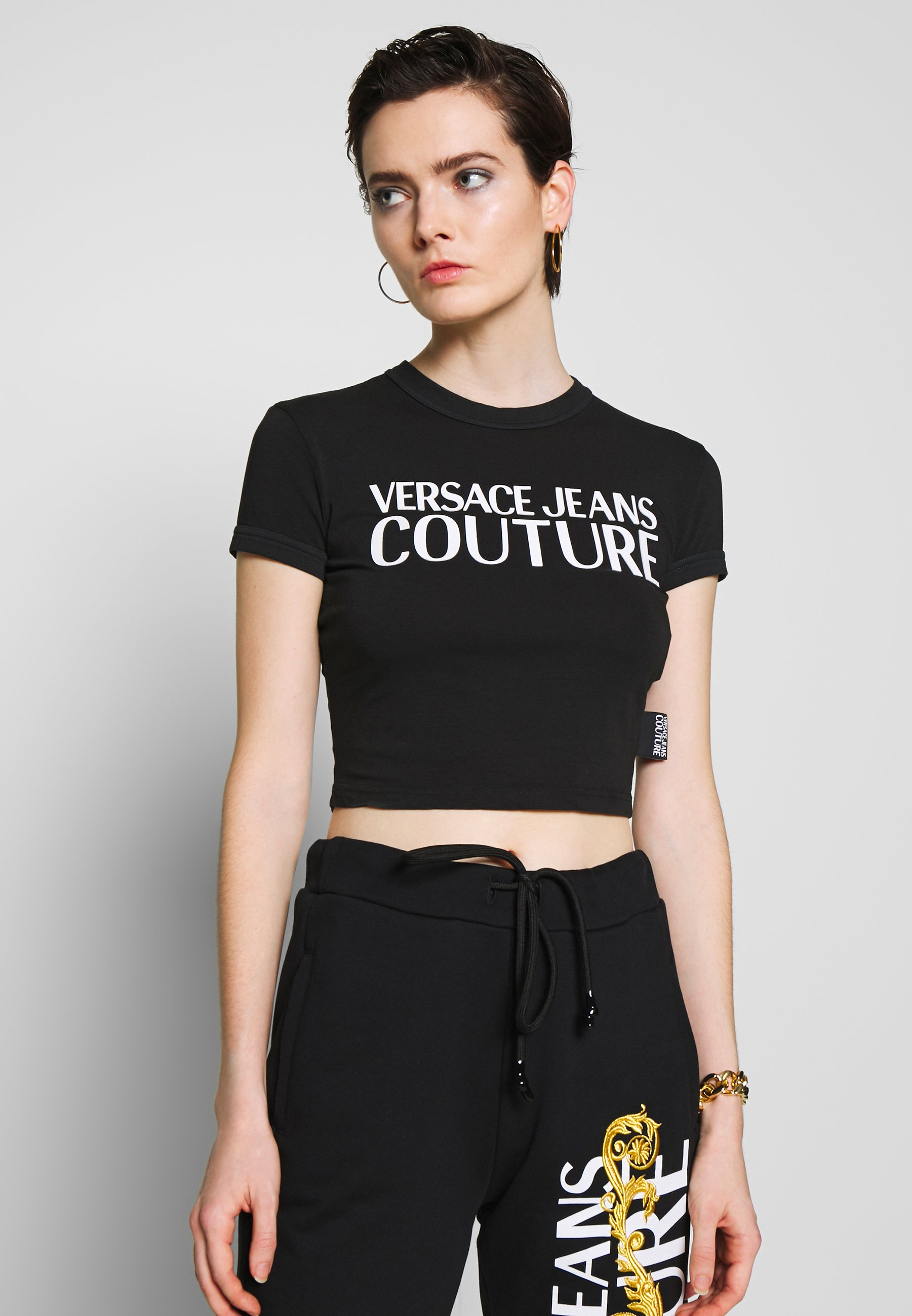Versace Jeans Couture T-shirt con stampa - black