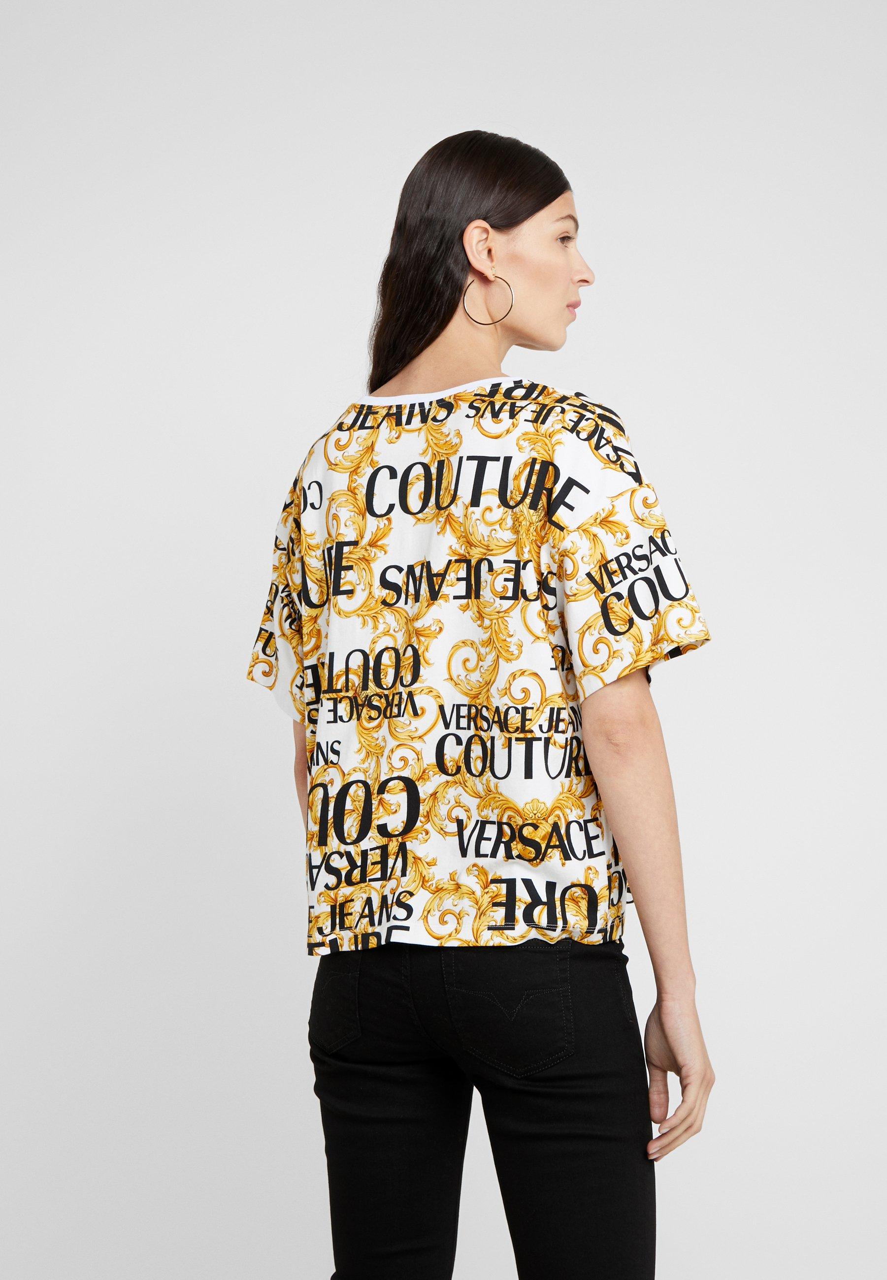 shirt Jeans Couture Versace T ImpriméBianco Ottico nmvN80wO