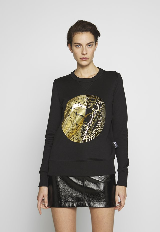 LADY LIGHT SWEATER - Sweatshirt - black/gold
